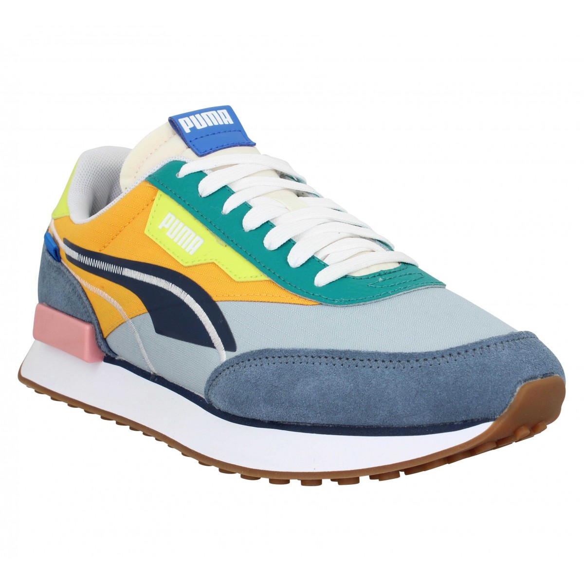 Baskets PUMA Future Rider Twofold SD velours toile Homme China Blue