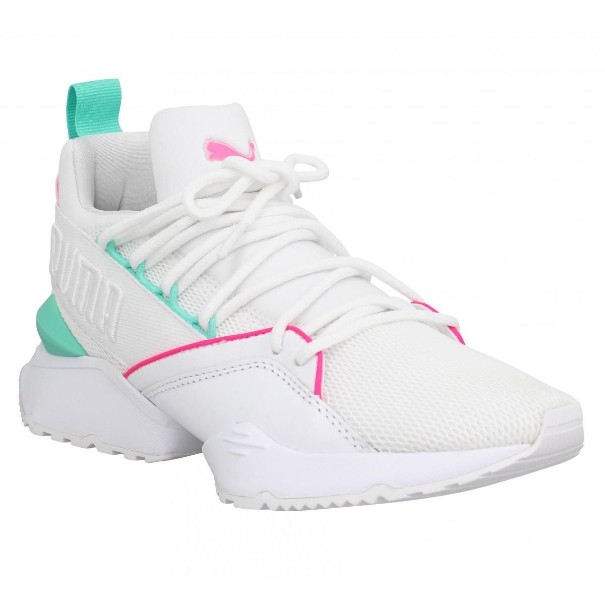 puma chaussures blanche femmes