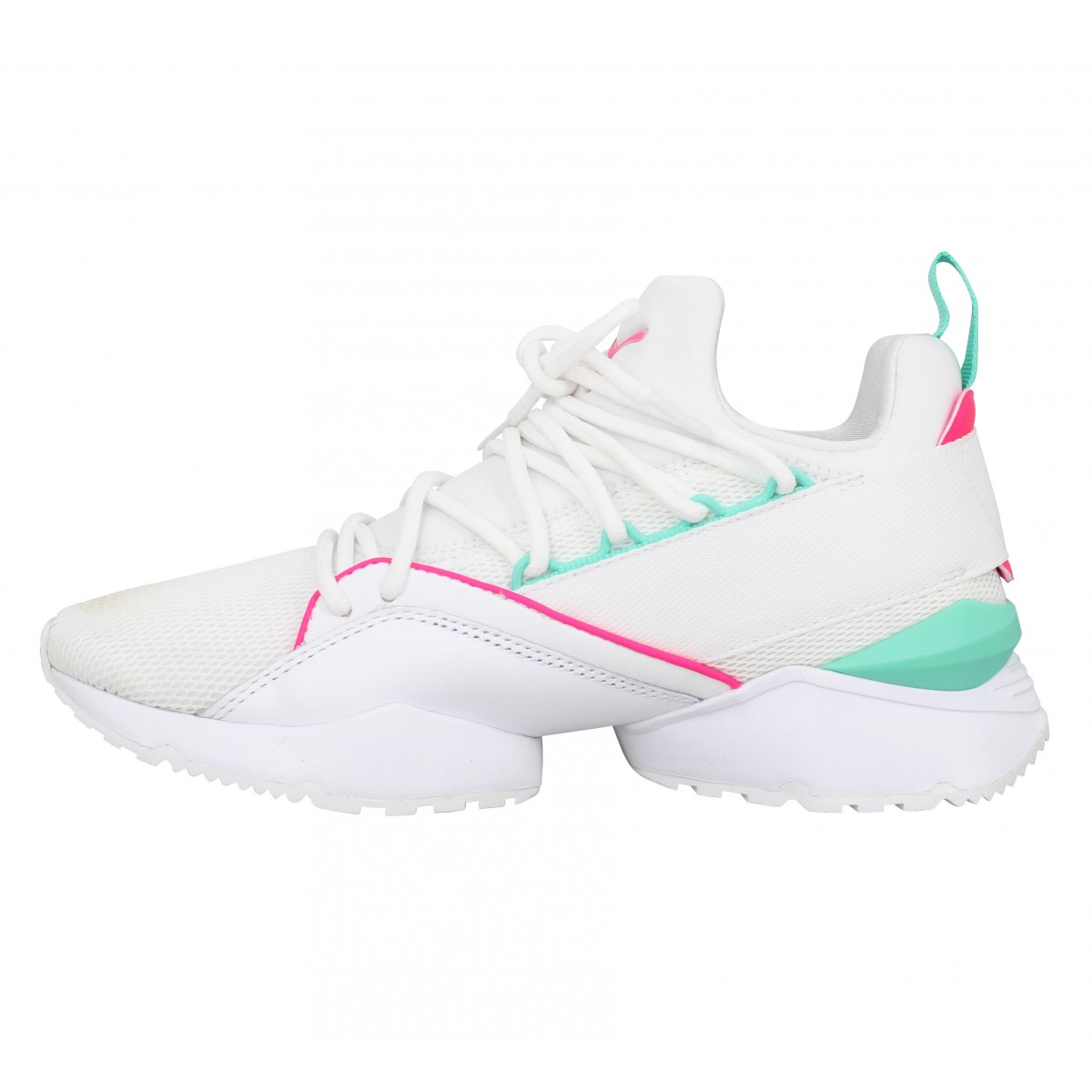 Muse Toile Dxfax Maia Blanc Chaussures Fanny Puma Femme zVpGSMUq