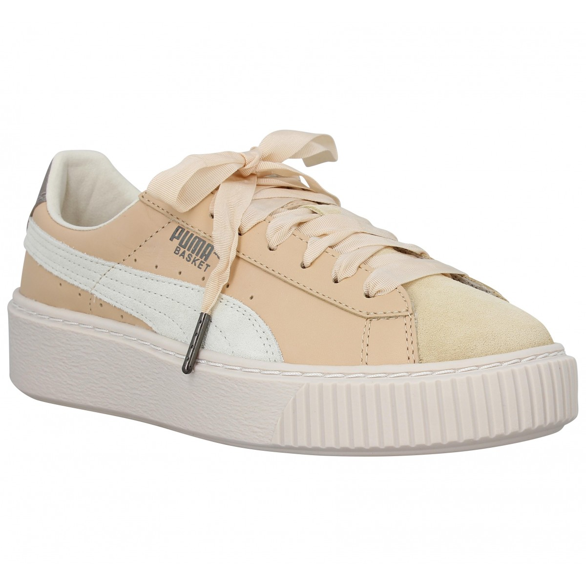 Baskets PUMA Platform Up cuir Femme Naturel