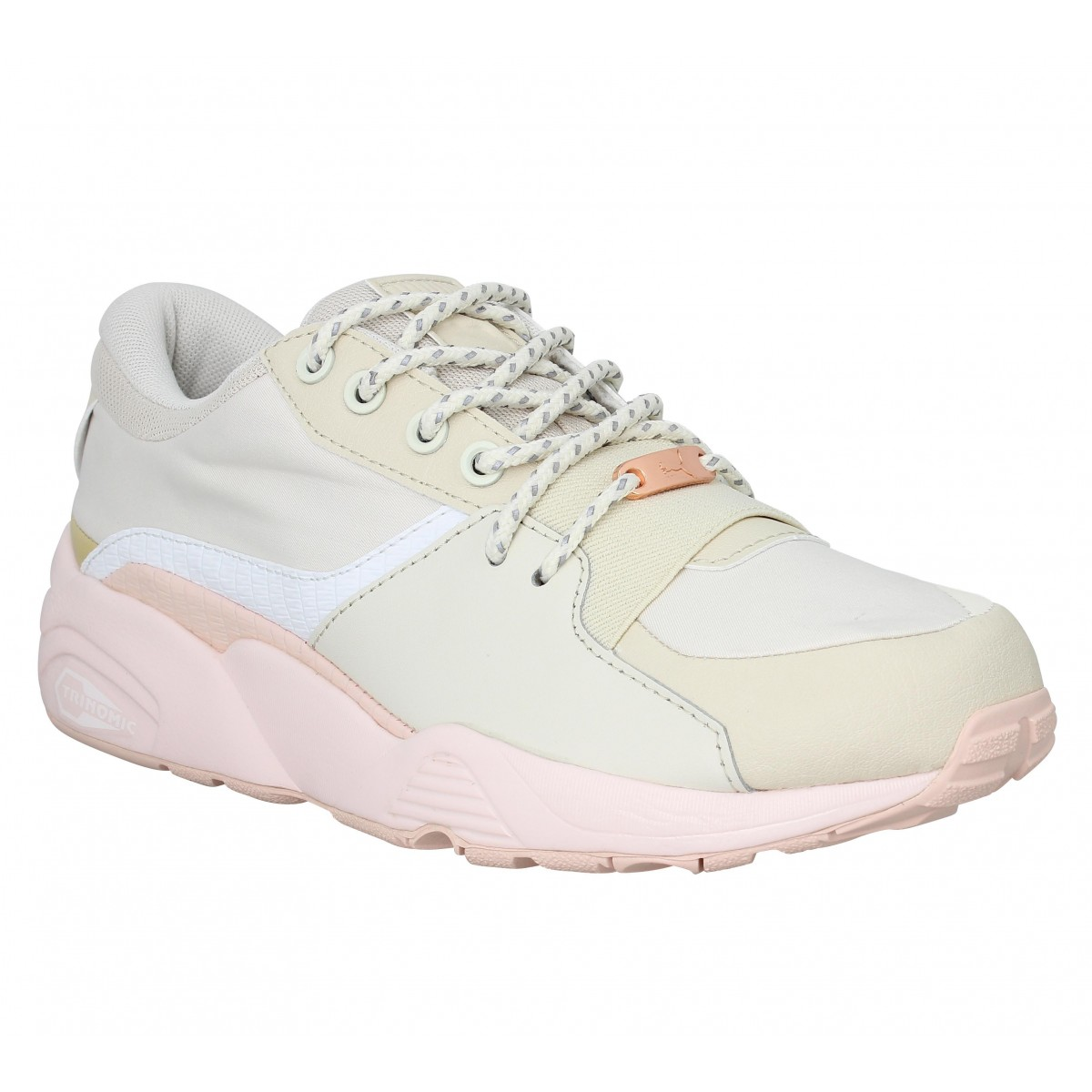 puma trinomic beige et rose