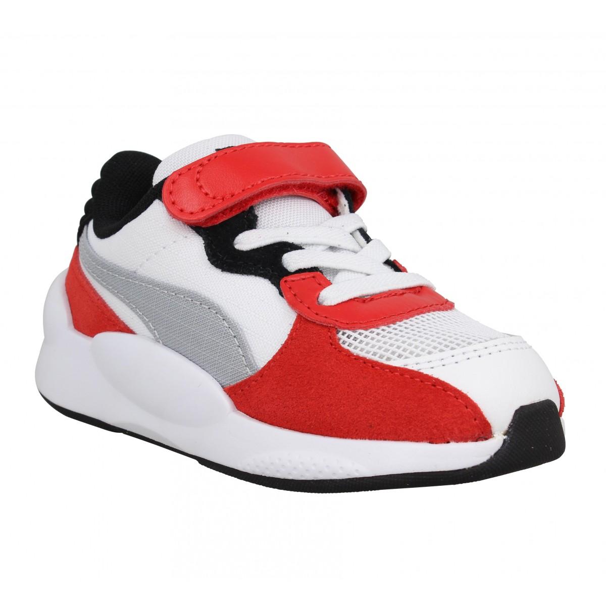 Baskets PUMA RS 9.8 Space textile Enfant Blanc Rouge