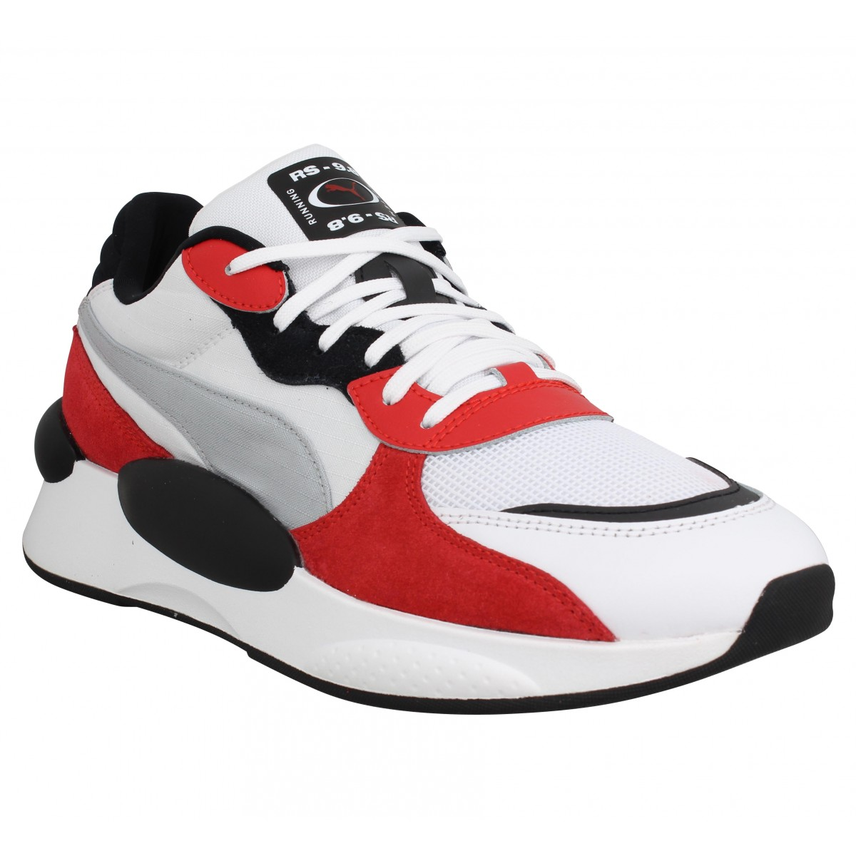 Baskets PUMA RS 9.8 Space toile Homme Blanc Rouge