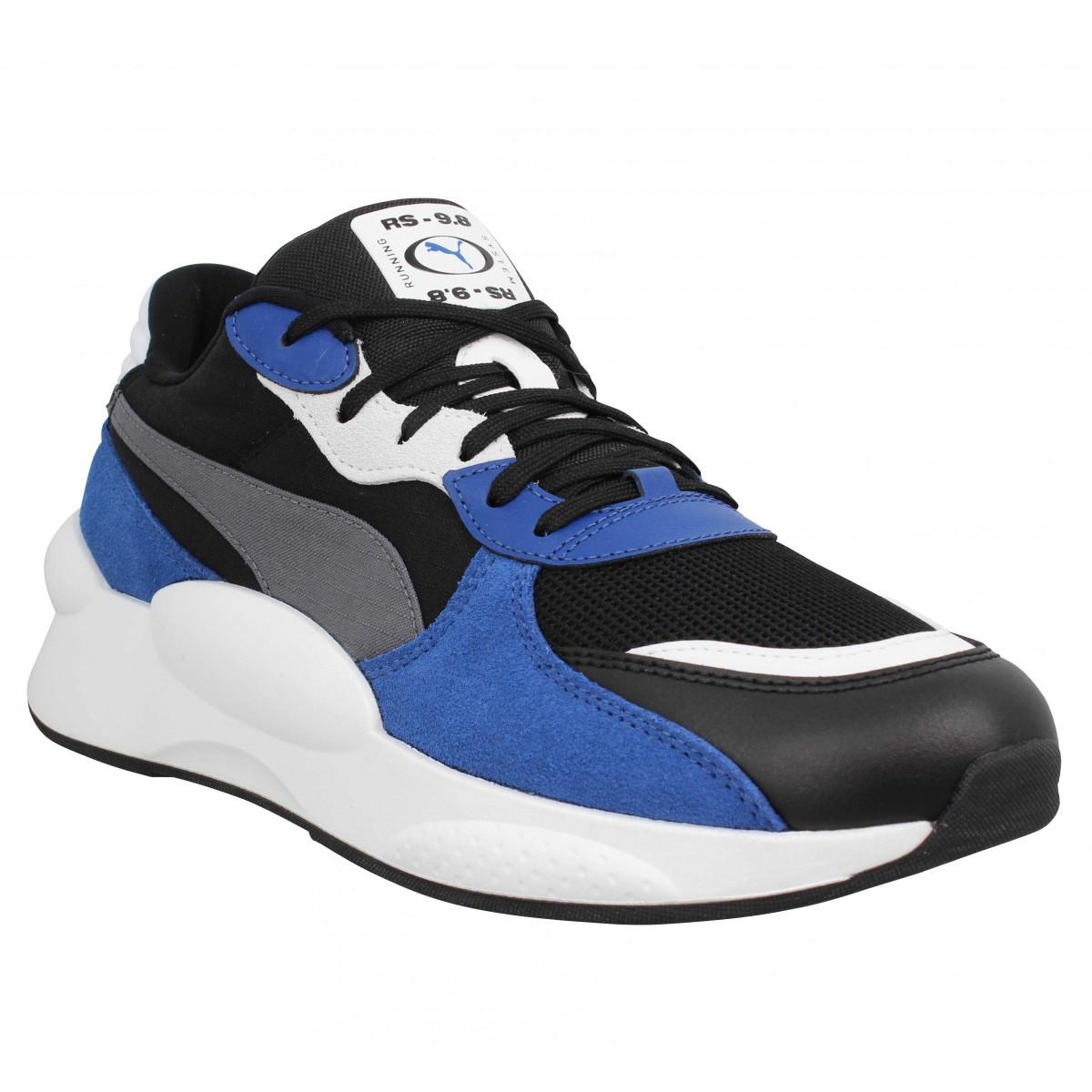 Baskets PUMA RS 9.8 Space toile Homme Noir Bleu