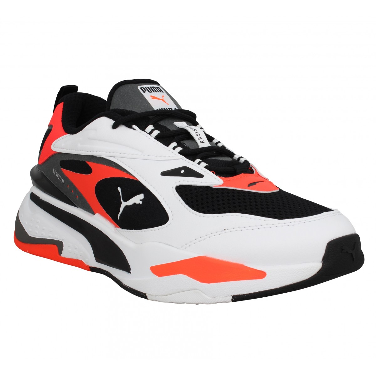 Baskets PUMA RS-Fast toile Homme Blanc Rouge