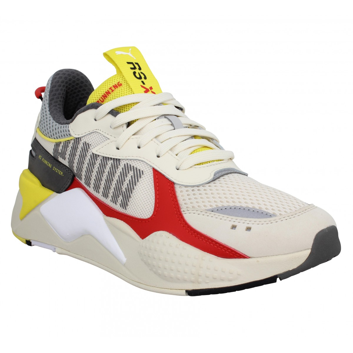 Baskets PUMA RS-X Bold toile Homme Blanc Rouge