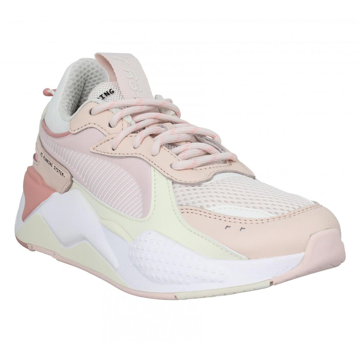 puma rs x femme blanche rose