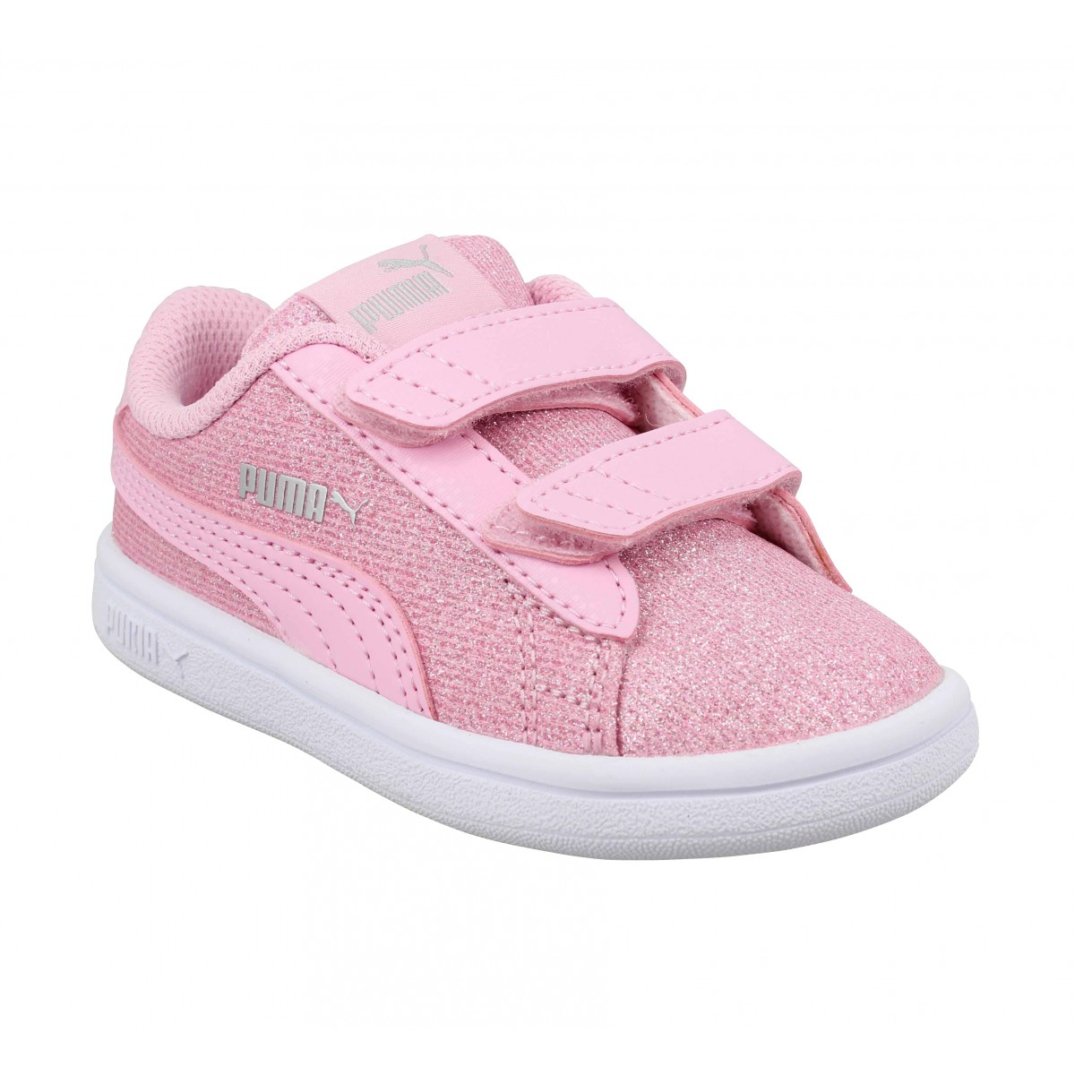 Baskets PUMA Smash Glitz toile Enfant Pink