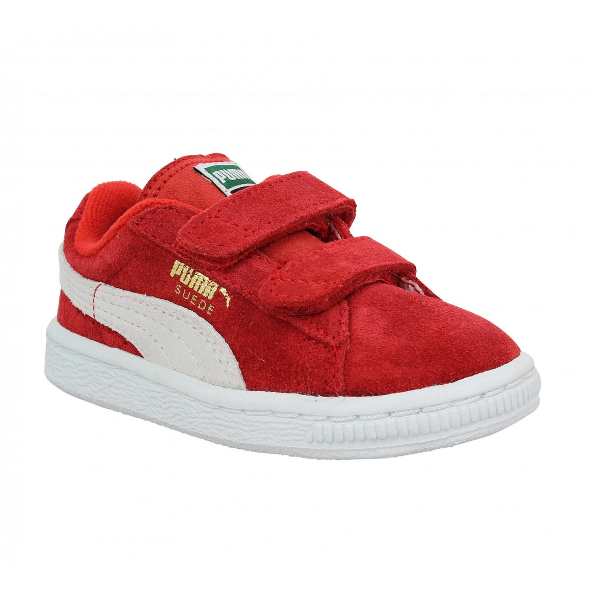 Baskets PUMA Suede 2 Straps Enfant Rouge