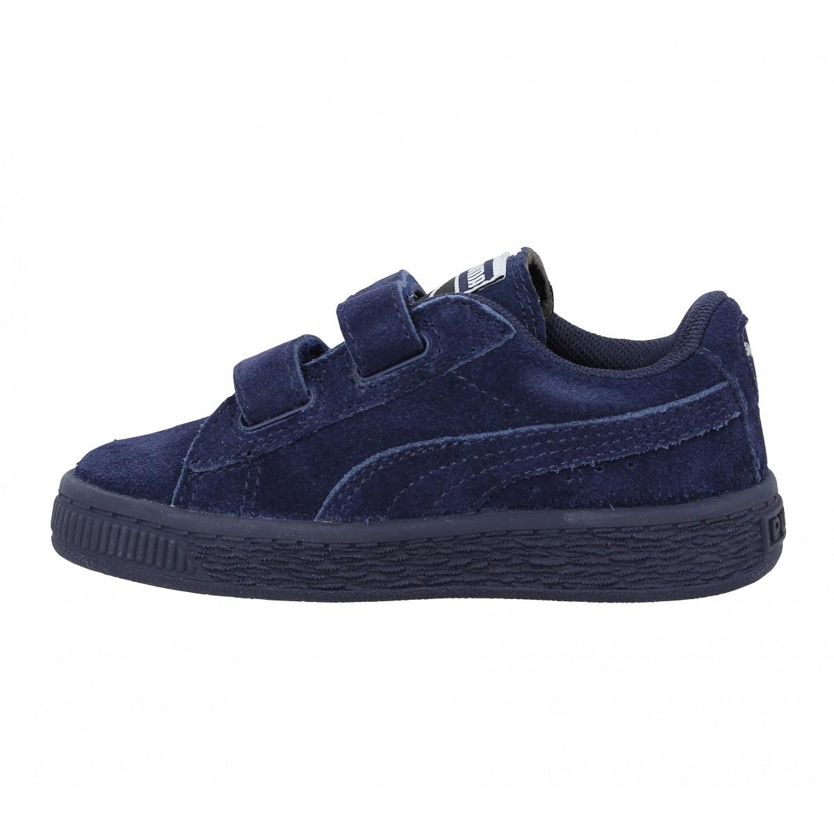 Chaussures Fanny Velours Suede Straps Puma 2 Enfant Marine Enfants 4r48H1xw