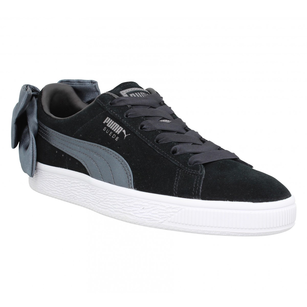 Baskets PUMA Suede Bow velours Femme Black