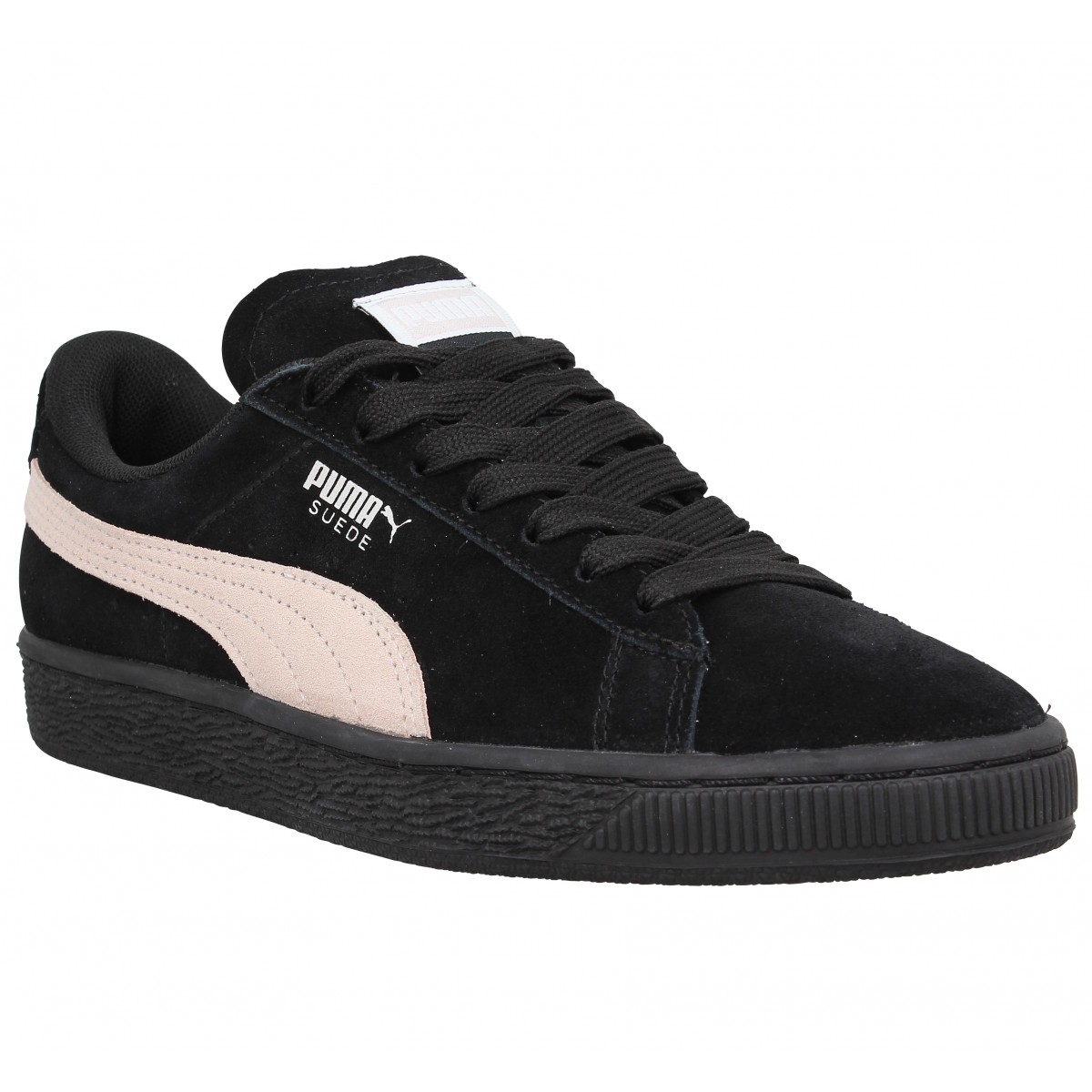 Baskets PUMA Suede Classic velours Femme Black Pearl