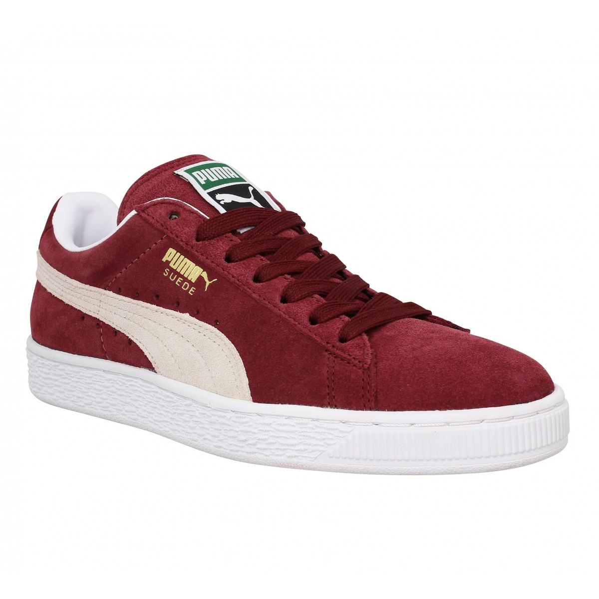 puma suede classic velours femme bordeaux fanny chaussures. Black Bedroom Furniture Sets. Home Design Ideas