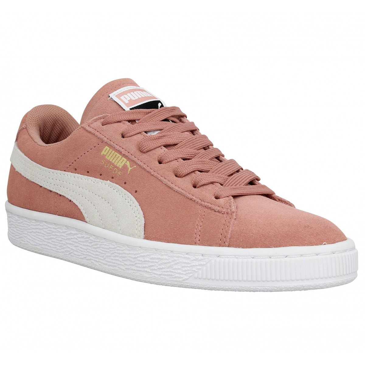 Baskets PUMA Suede Classic velours Femme Cameo Brown