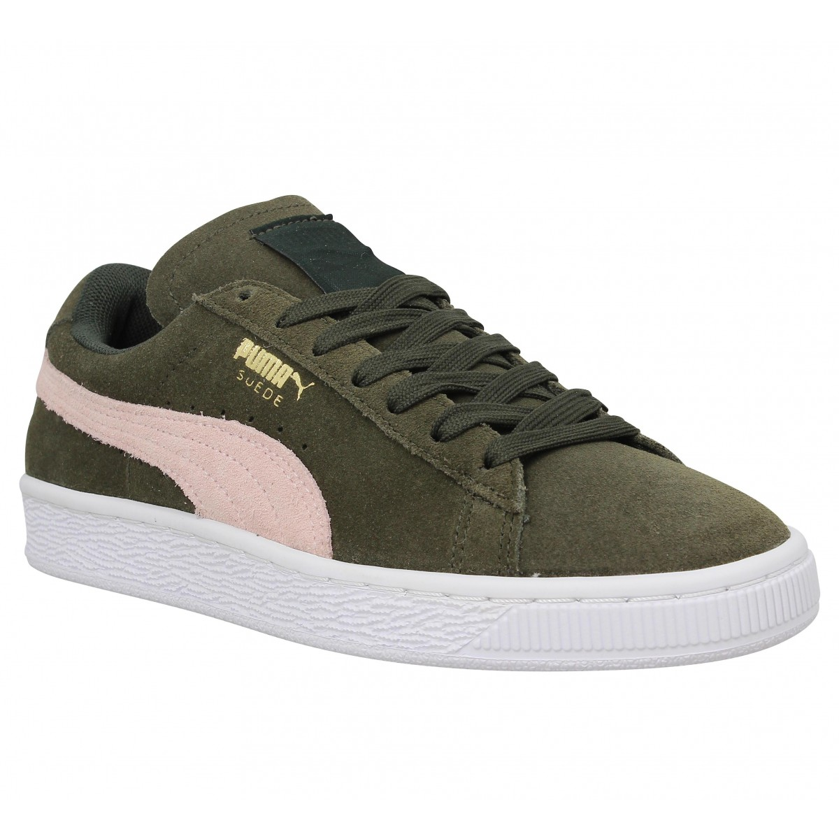 plus récent 8bab7 16649 PUMA Suede Classic velours Forest night Rose