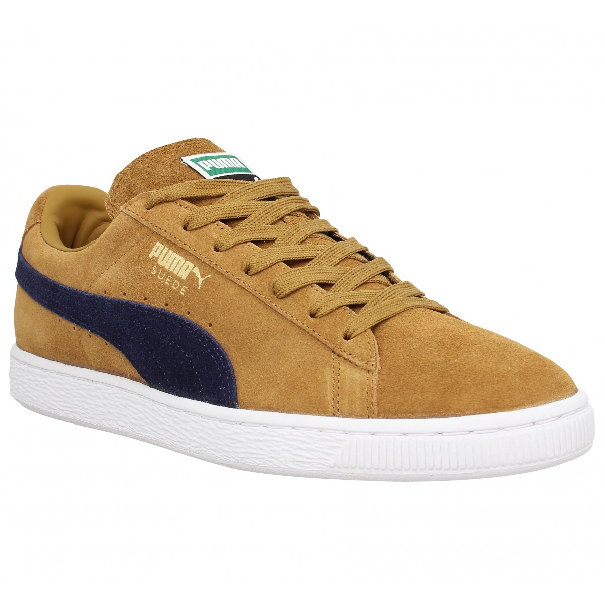 Baskets PUMA Suede Classic velours Homme Brun