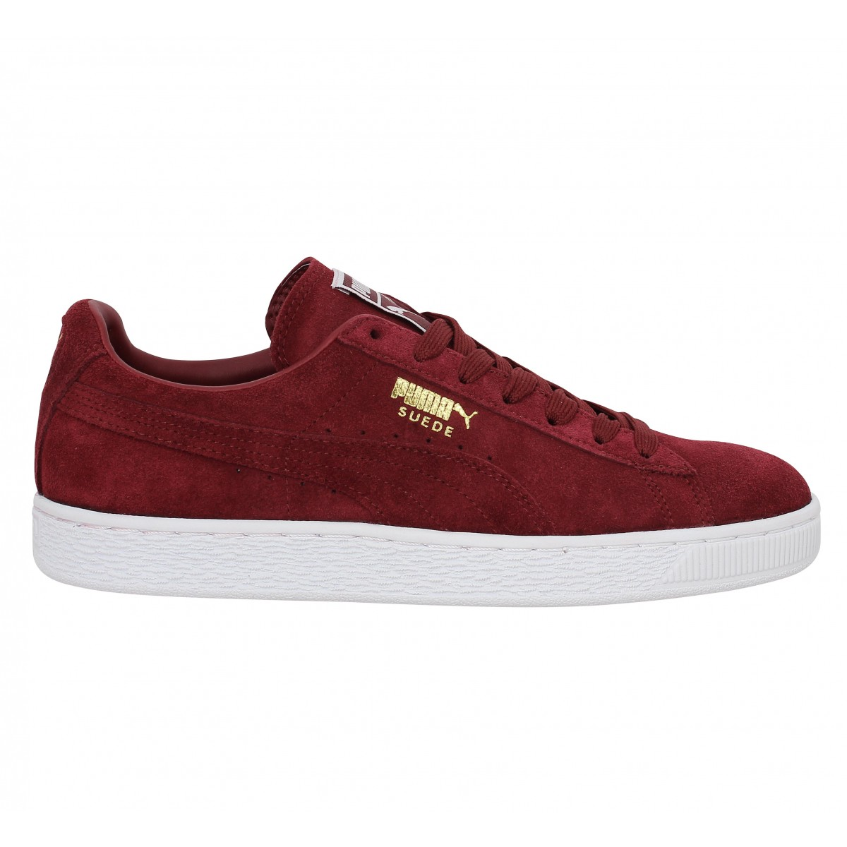 Puma SUEDE CLASSIC+ - Baskets basses rouge W3kBwVq