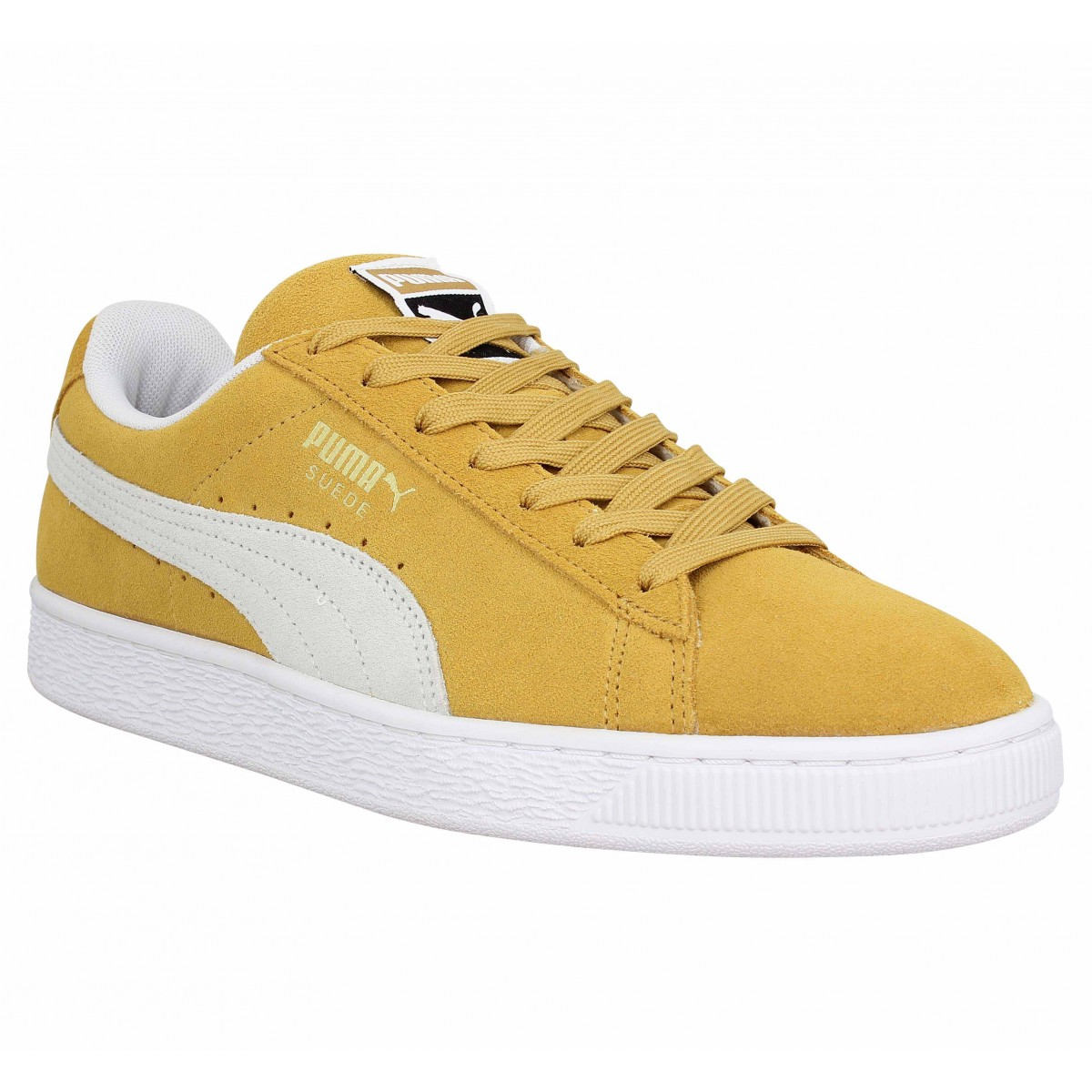 Baskets PUMA Suede Classic velours Homme Moutarde