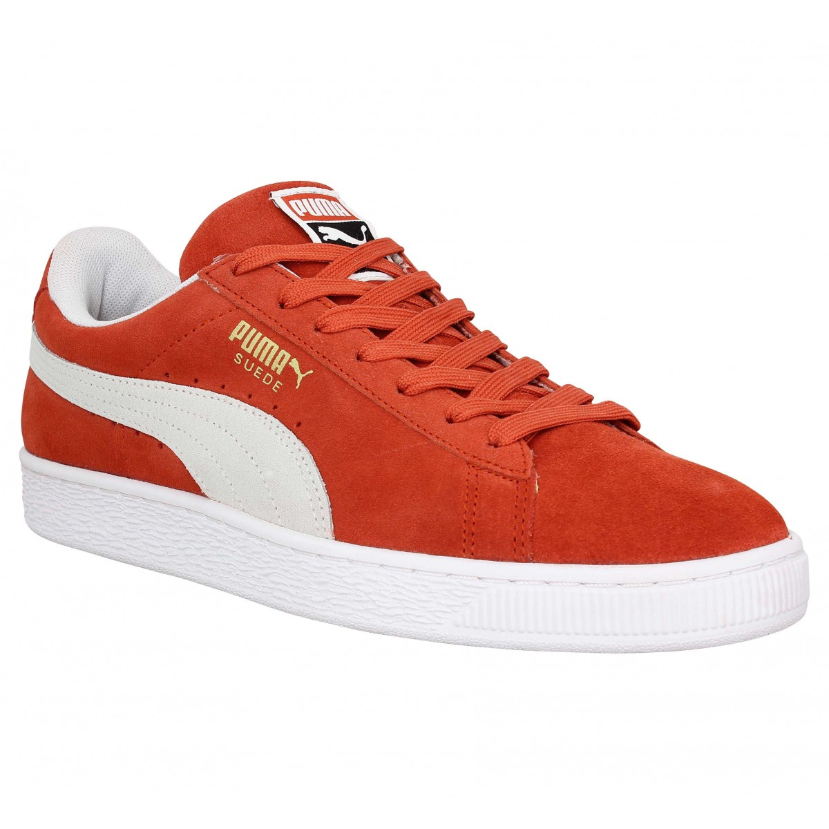 Baskets PUMA Suede Classic velours Homme Ocre