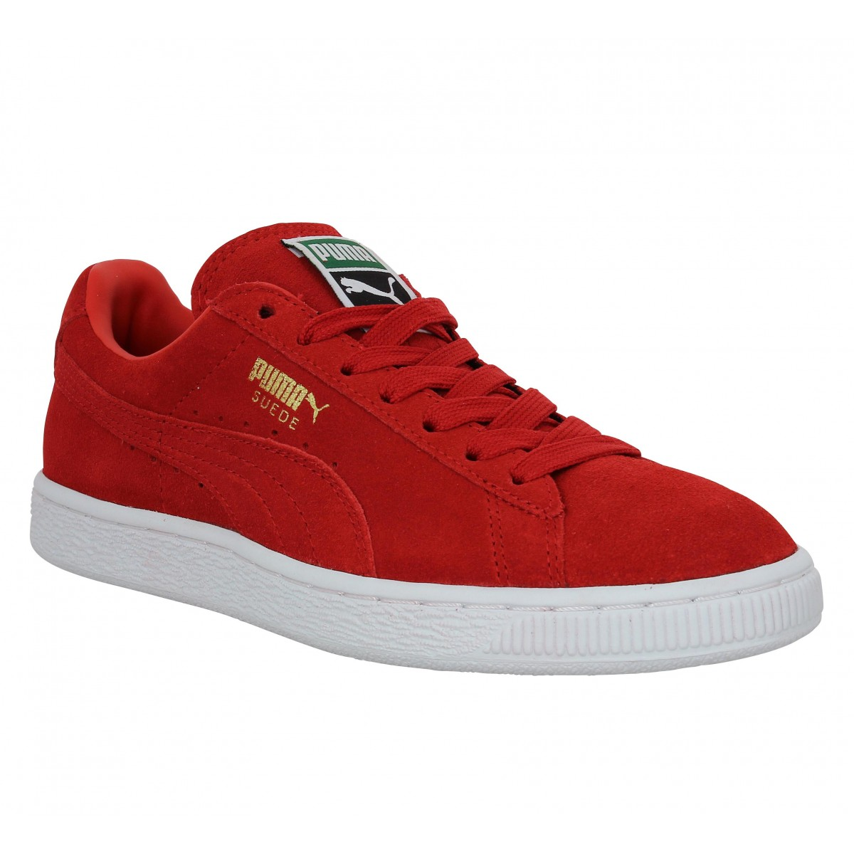 Baskets PUMA Suede Classic velours Rouge