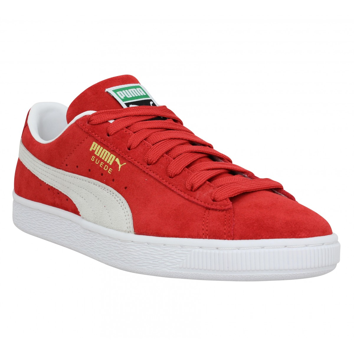 Baskets PUMA Suede Classic XXI velours Homme Rouge