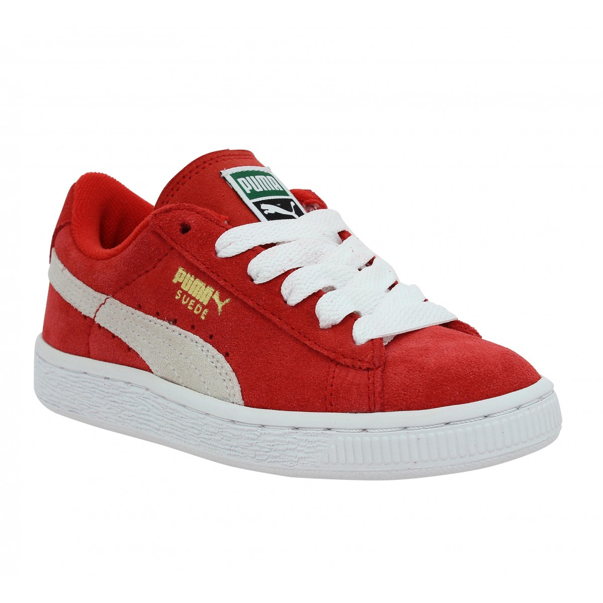 Puma Enfant Suede Jr -29-rouge