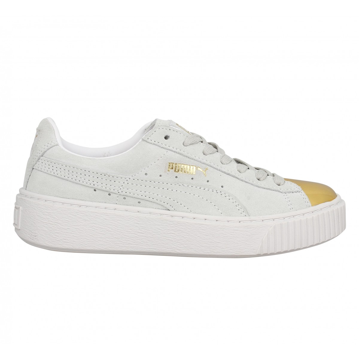 puma suede creepers femme blanche