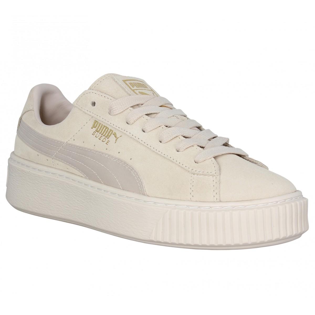 puma suede platform - femme chaussures