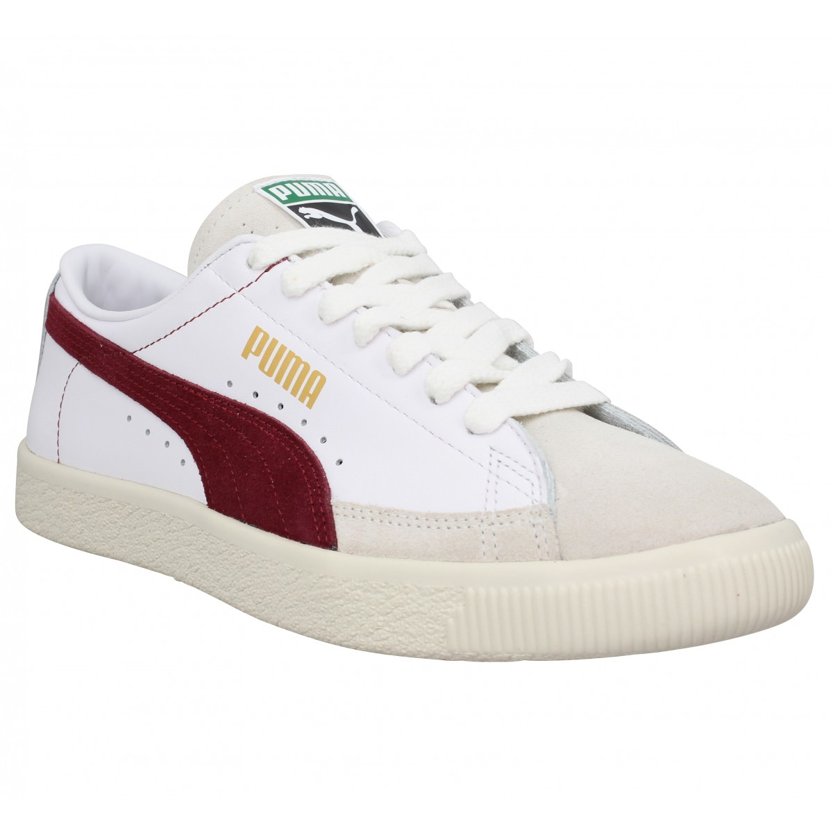 Baskets PUMA THE ARCHIVE Basket velours Homme Blanc Bordeaux
