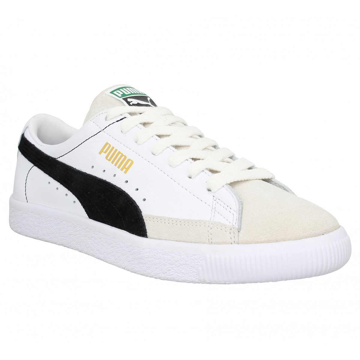 Baskets PUMA THE ARCHIVE Basket velours Homme Blanc Noir