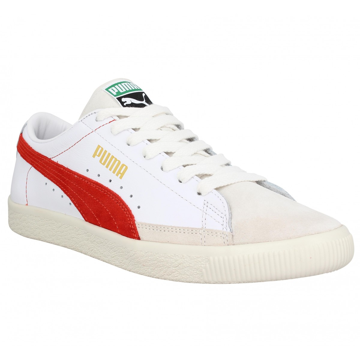 Baskets PUMA THE ARCHIVE Basket velours Homme Blanc Orange