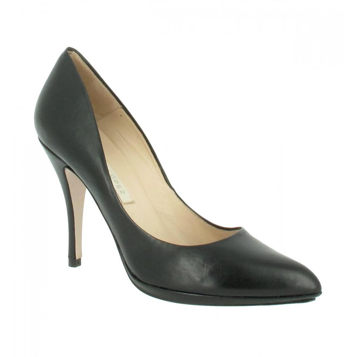 Escarpins PURA LOPEZ 100 cuir Femme Noir