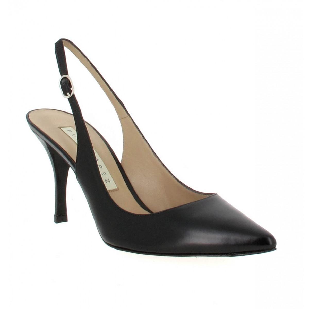 Escarpins PURA LOPEZ 101 cuir Femme Noir