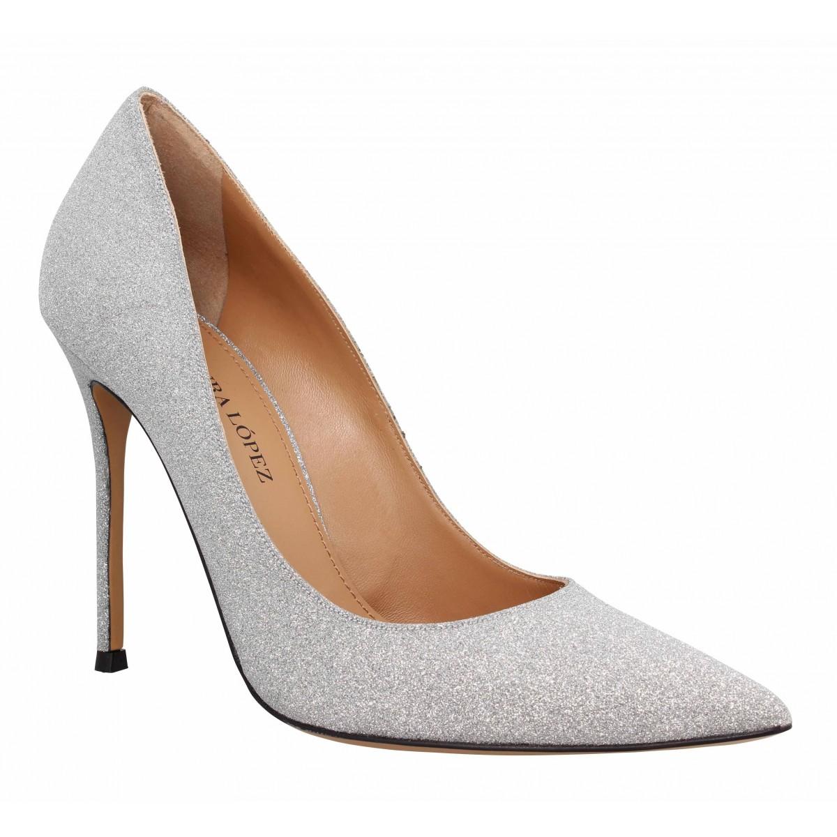 Pura Lopez Femme 107 Glitter -40-argent