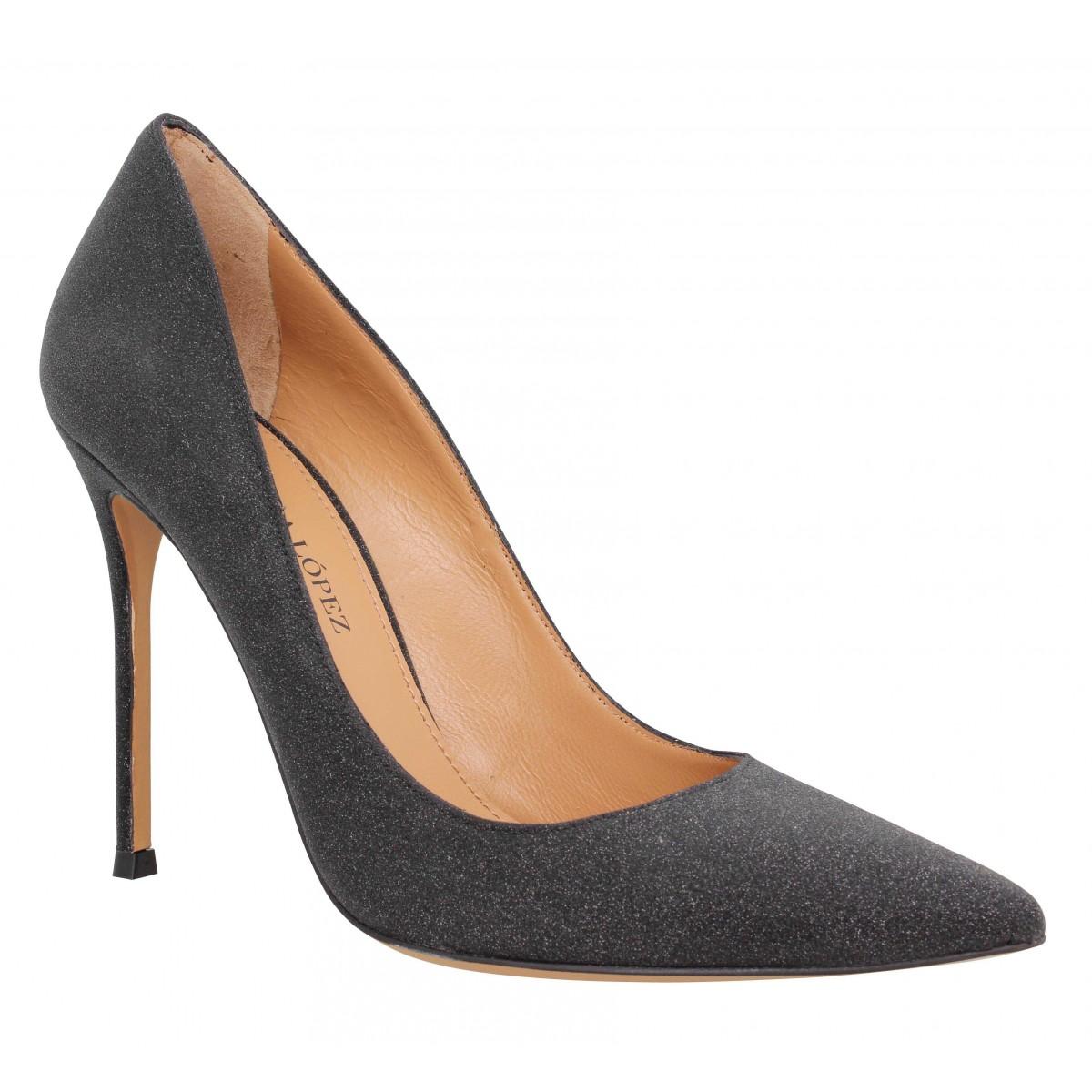 Escarpins PURA LOPEZ 107 glitter Femme Noir