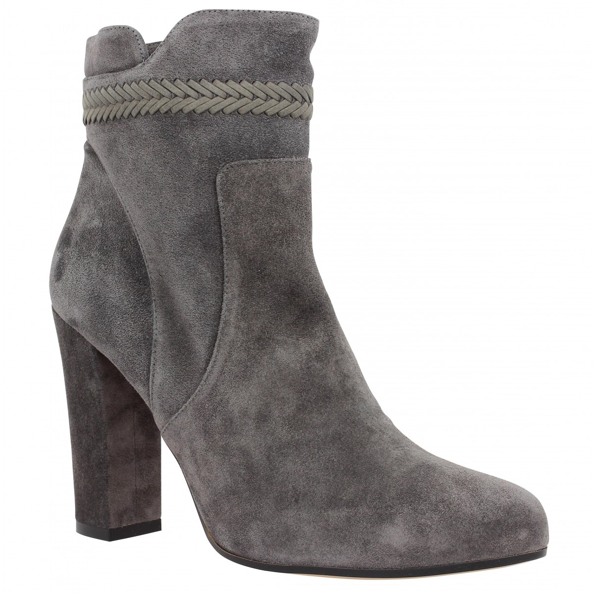 Bottines PURA LOPEZ 297 velours Femme Anthracite