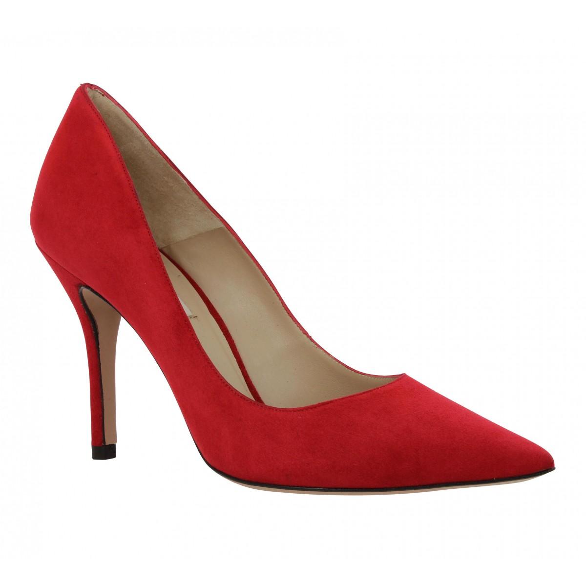 Escarpins PURA LOPEZ 650 velours Femme Rouge
