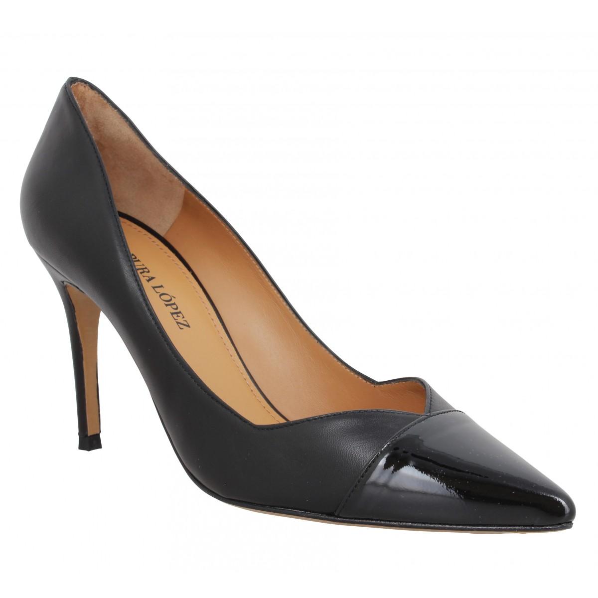 Escarpins PURA LOPEZ AP127 cuir Femme Noir