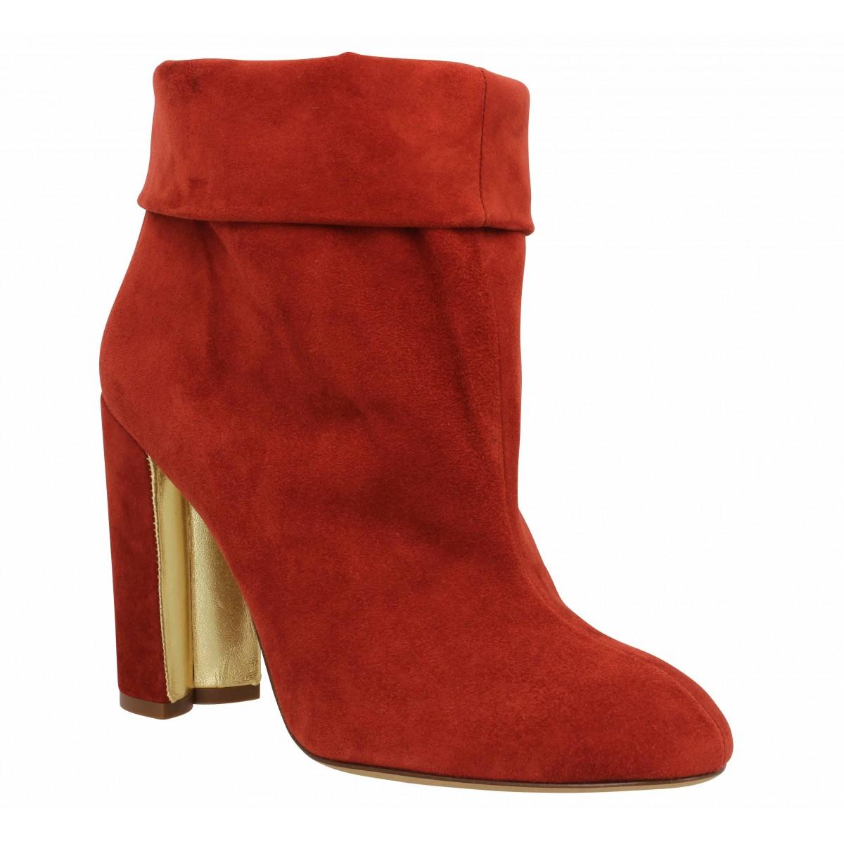 Pura Lopez Femme Ap241 Velours -39-rouge