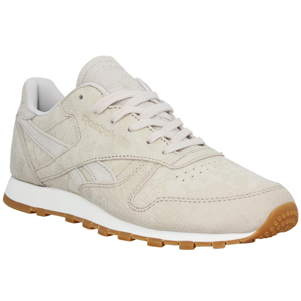 Baskets REEBOK Classic Leather Clean Exotics Femme Beige