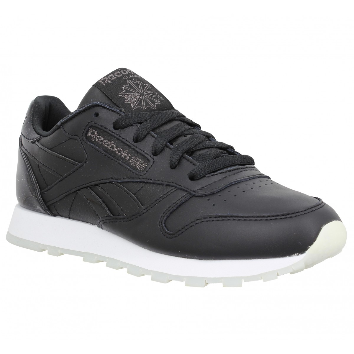 Baskets REEBOK Classic Leather cuir Femme Black Ice