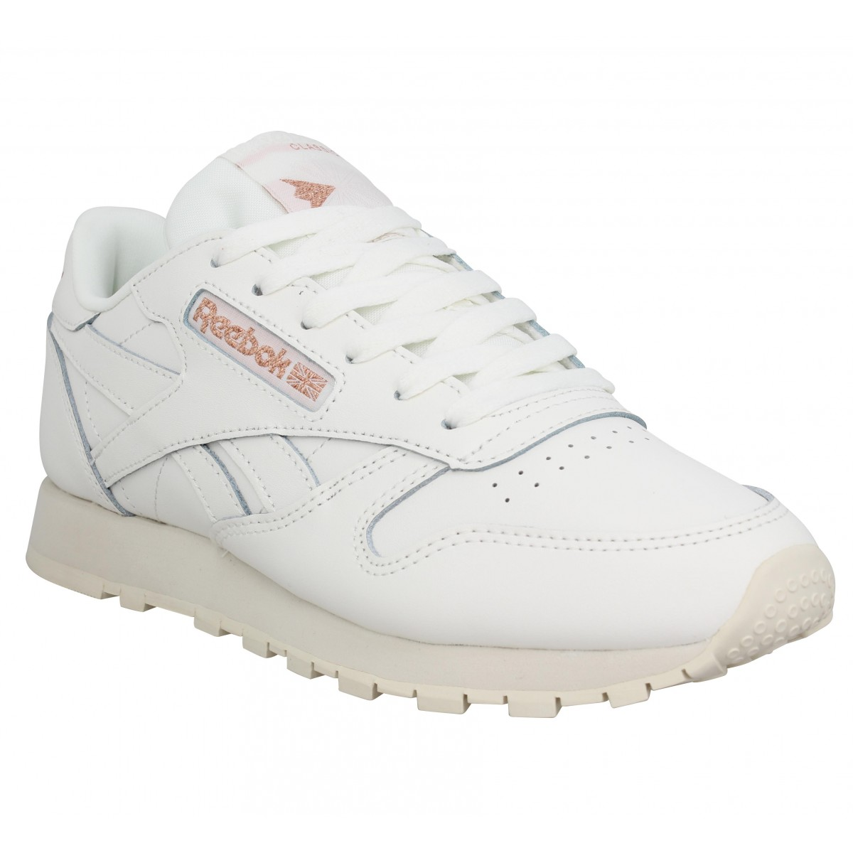 e83a1cf662b Baskets REEBOK Classic Leather cuir Femme Craie