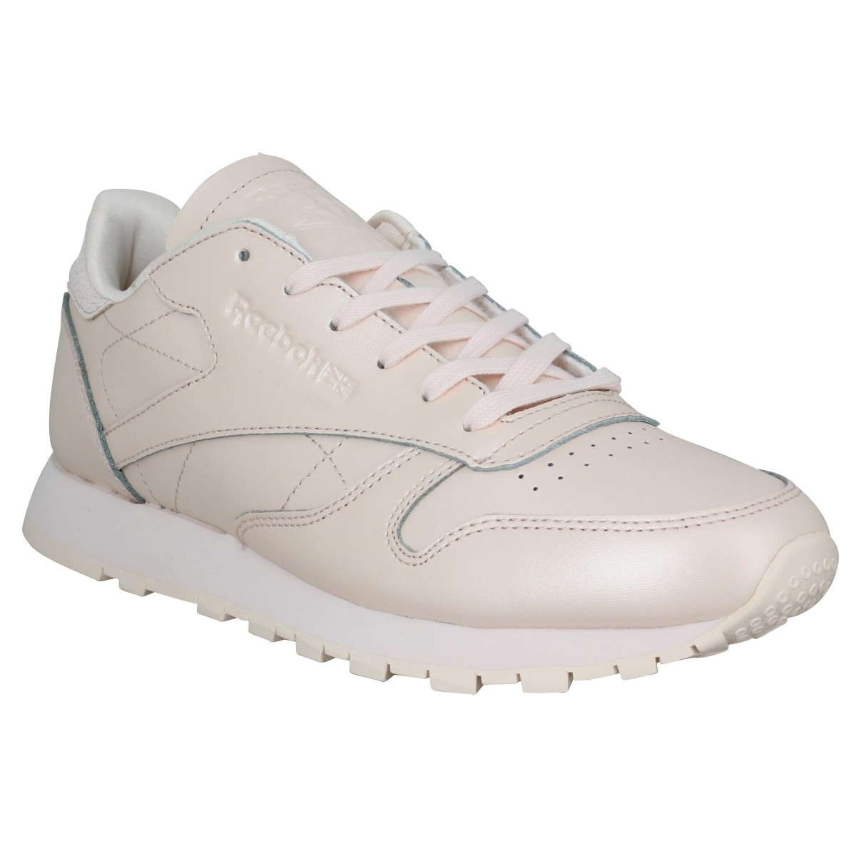 c1cca295f33c5 Baskets REEBOK Classic Leather cuir Femme Rose