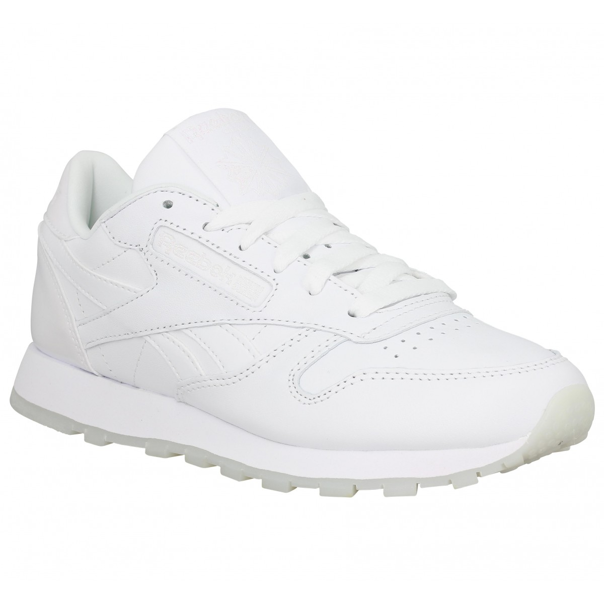 Baskets REEBOK Classic Leather cuir Femme White Ice