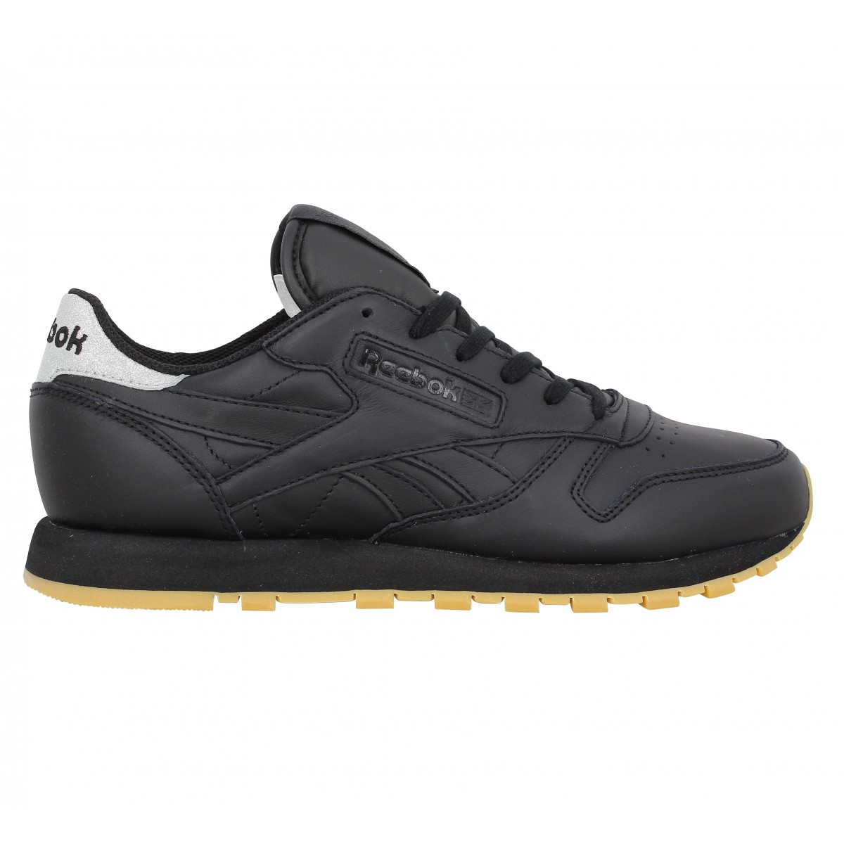 reebok classic leather met diamond noir femme fanny chaussures. Black Bedroom Furniture Sets. Home Design Ideas