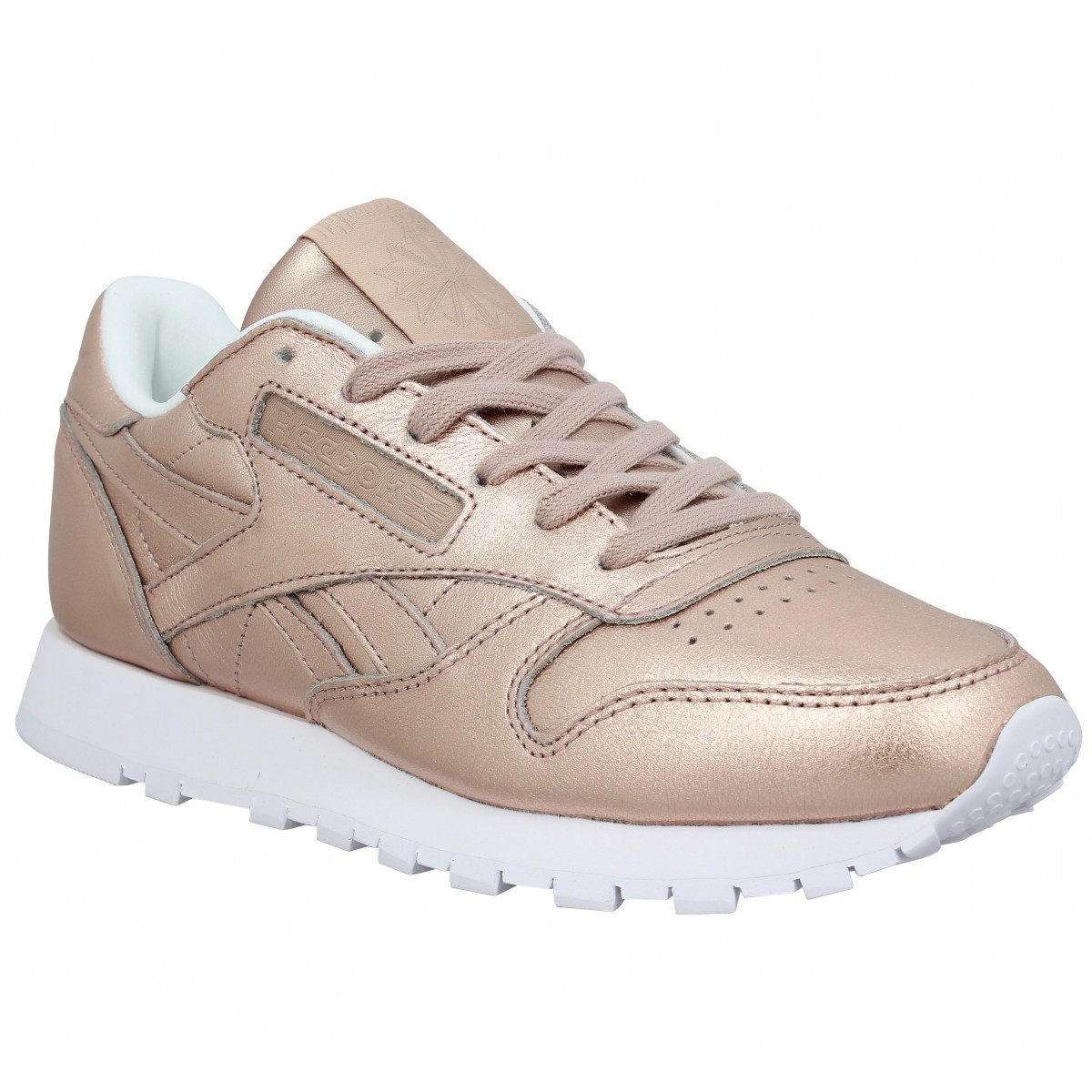 soldes reebok classic leather metal cuir femme peach femme fanny chaussures. Black Bedroom Furniture Sets. Home Design Ideas