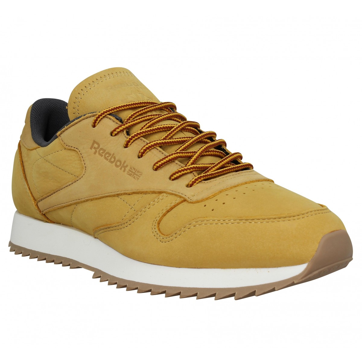 Baskets REEBOK Classic Leather Ripple nubuck Homme Gold