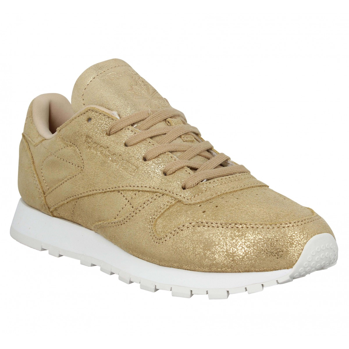 Baskets REEBOK Classic Leather Shimmer velours Femme Gold