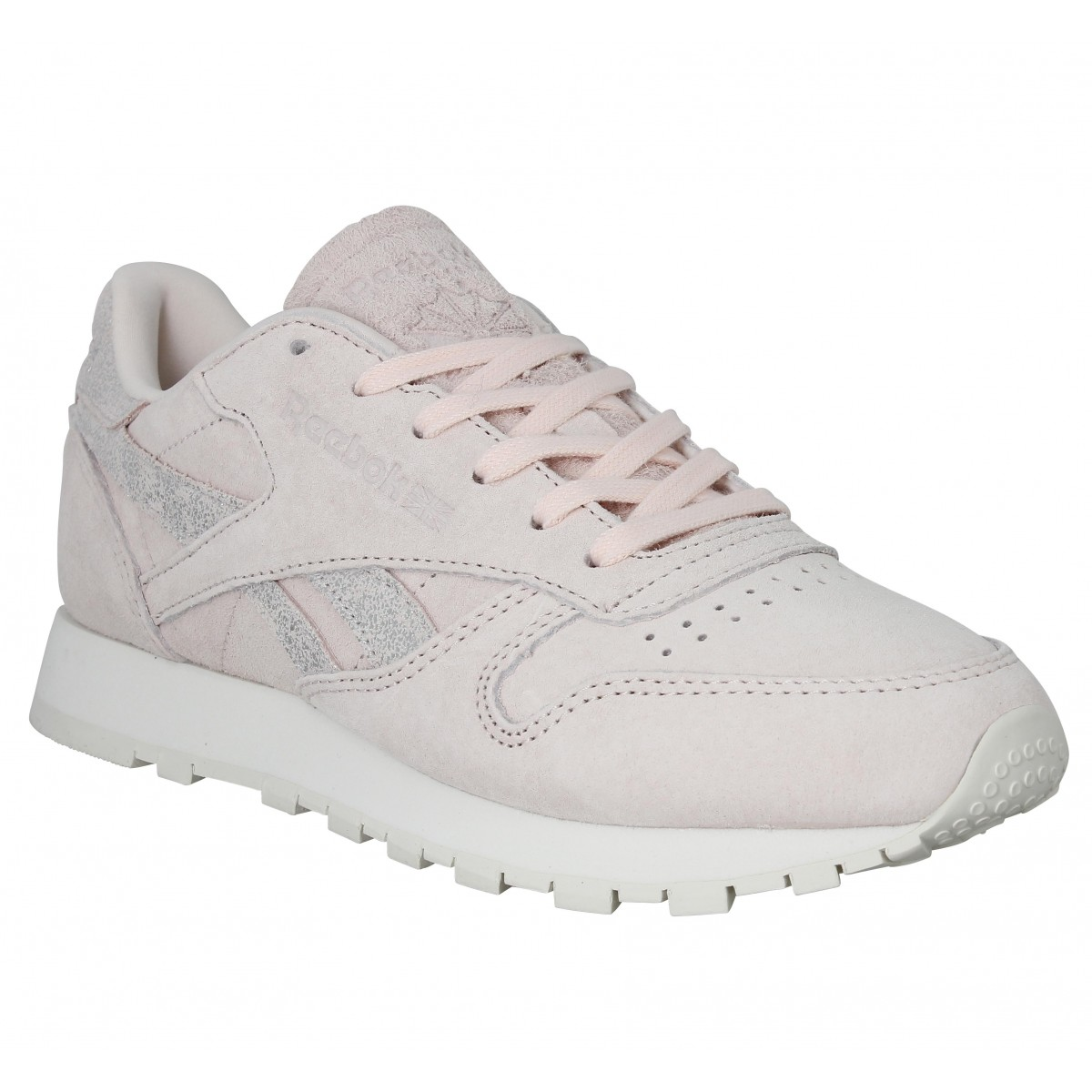 Reebok Femme Leather Velours Fanny Shimmer Classic Rose xIHr58xq