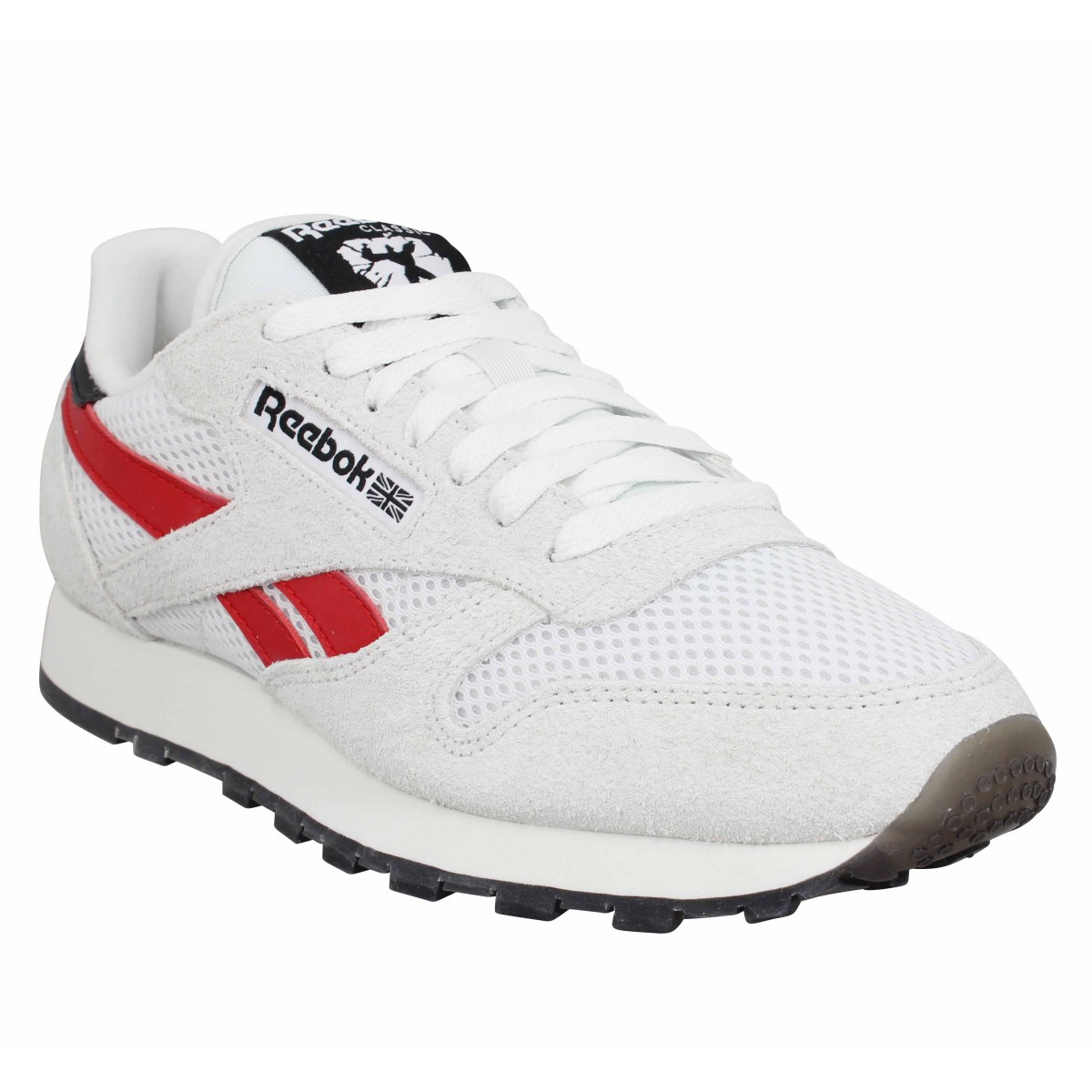 Baskets REEBOK X HUMAN RIGHTS NOW! Classic Leather velours toile Homme Blanc Vert Rouge